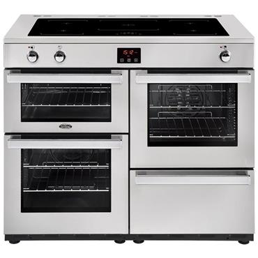 Belling Cookcentre 110cm Induction Range Cooker Stainless Steel