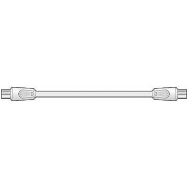 Av:Link Coaxial Plug To Plug Lead 1m
