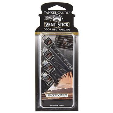 Yankee Candle Car Vent Sticks Black Coconut