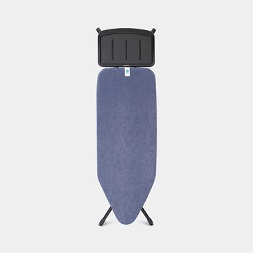 Brabantia Ironing Board 124 x 45cm Solid Steam Holder Denim