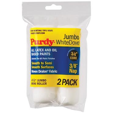 "Purdy 4.5"""" White Dove Jumbo 2pk Rollers"