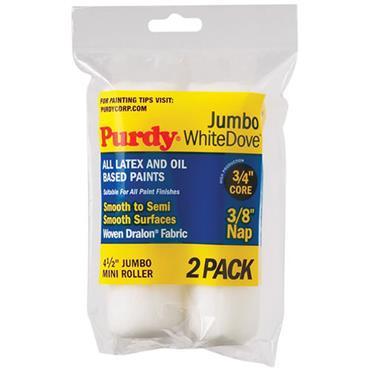 "Purdy 4.5"" White Dove Jumbo 2pk Rollers"