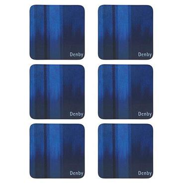 Denby Colours Blue Coasters 6pk
