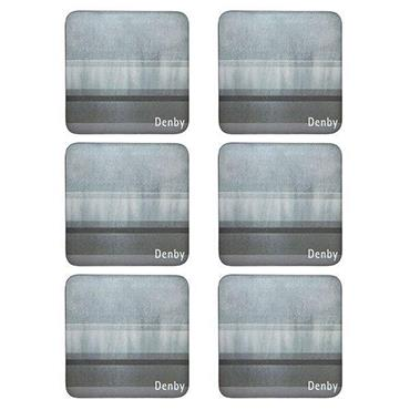 Denby Colours Grey Coasters 6pk