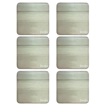 Denby Colours Natural Coasters 6pk