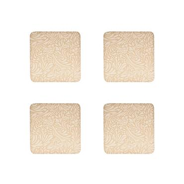 Denby Monsoon Lucille Gold Coasters 4pk