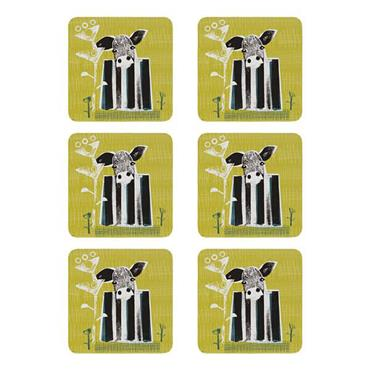 Denby Cow Coasters 6pk