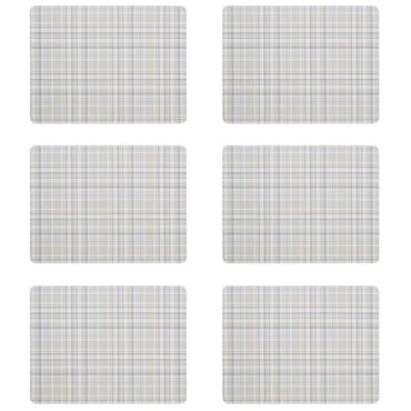Denby Elements Checks Natural Placemats 6pk