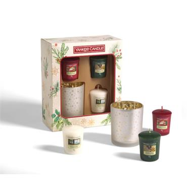 Yankee Candle 3 Votive Candle and Holder Gift Set