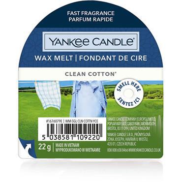 Yankee Candle Wax Melt Clean Cotton