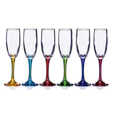 Newgrange Rainbow Party Prosecco Flute Glasses 6pce