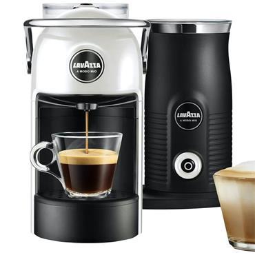 Lavazza A Modo Mio Jolie With Milk White Coffee Maker