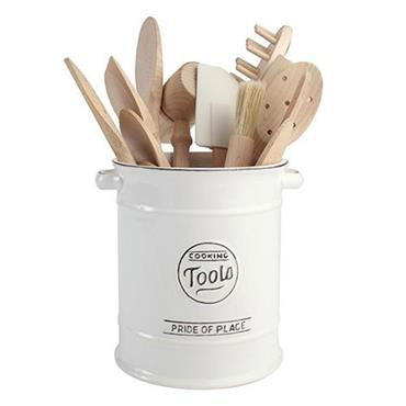 T&G Woodware Pride Of Place Large Cooking Tools Jar White