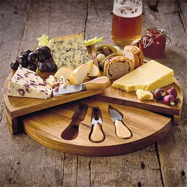 James Martin Cheese Board Set 4pce