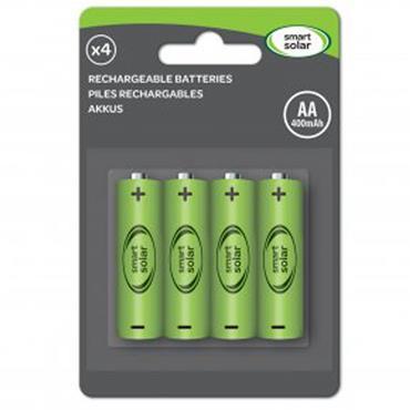 Smart Garden Solar Rechargeable Batteries AA 600mAh 4pk