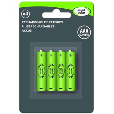 Smart Garden Solar Rechargeable Batteries AAA 600mAh 4pk