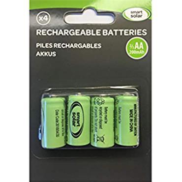 Smart Garden Solar Rechargable Batteries 2/3AA 200mAh 4pk