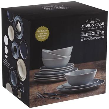Mason Cash Classic Collection Grey Dining Set 12pce
