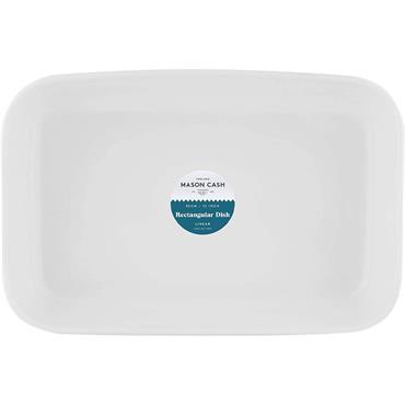 Mason Cash Linear Rectangle Dish 30cm White