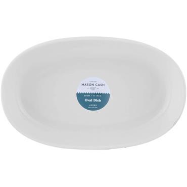 Mason Cash Linear Oval Dish 28cm White