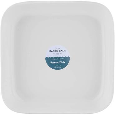 Mason Cash  Linear Square Dish 24cm White