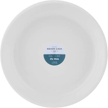 Mason Cash  Linear Round Pie Dish 26cm White