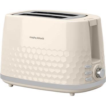 Morphy Richards Hive Pattern Toaster 2 Slice Cream