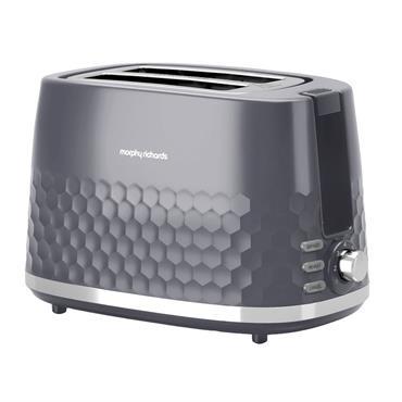 Morphy Richards Hive Pattern Toaster 2 Slice Grey