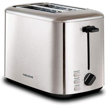 Morphy Richards Equip 2 Slice Toaster Brushed Steel