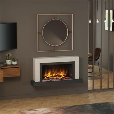 """Elgin & Hall 47"""" Pryzm Vardo 5D Wall Mounted Electric Suite Cashmere and Anthracite"""