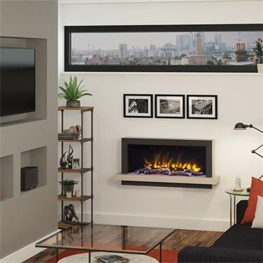 """Elgin & Hall 51"""" Pryzm Huxton 5D Wall Mounted Electric Suite Cashmere and Anthracite"""