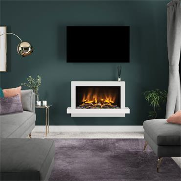 """Elgin & Hall 41"""" Pryzm Huxton 5D Wall Mounted Suite Cashmere and Anthracite"""