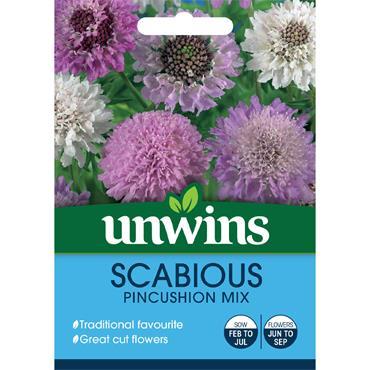 Unwins Scabious Pincushion Mix Seeds