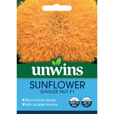 Unwins Sunflower Ginger Nut Seeds