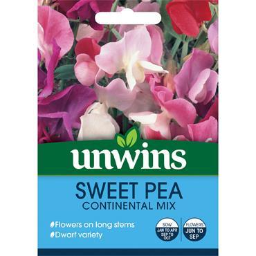 Unwins Sweet Pea Continental Mix Seeds