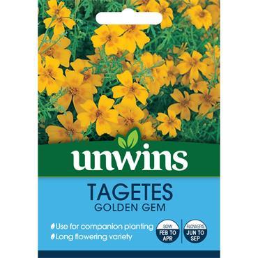 Unwins Tagetes Golden Gem Seeds
