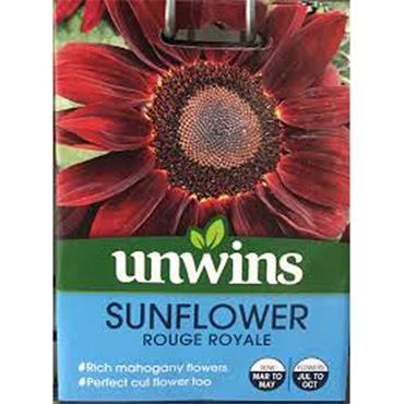 Unwins Sunflower Rouge Royale Seeds