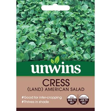 Unwins Cress Land American Salad Seeds