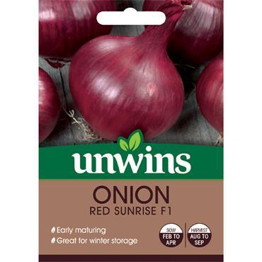 Unwins Onion Red Sunrise Seeds