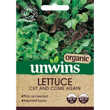 Unwins Lettuce Leaves Cut And Come Again Organic Seeds