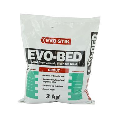 Evo-Stick Evobed Ceramic Floor Tile Grout Grey 3kg