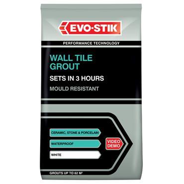 Evo-Stick Tile A Wall Fast Set Grout White 3kg