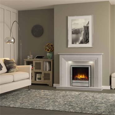 "Elgin & Hall 22"" Chollerton Inset Electric Fire Chrome"