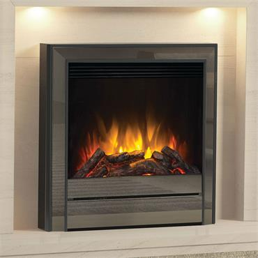 "Elgin & Hall 22"" Chollerton Inset Electric Fire Black Nickel"