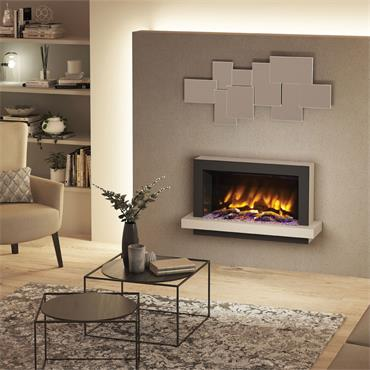 """Elgin & Hall 41"""" Pryzm Huxton 5D Wall Mounted Suite Ash White"""
