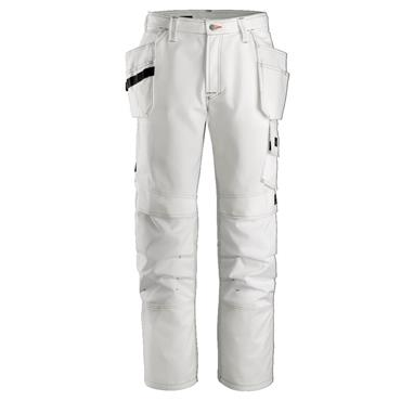 """Snickers 3275 Painters Holster Trousers White Size 84 (W30"""" L30"""")"""