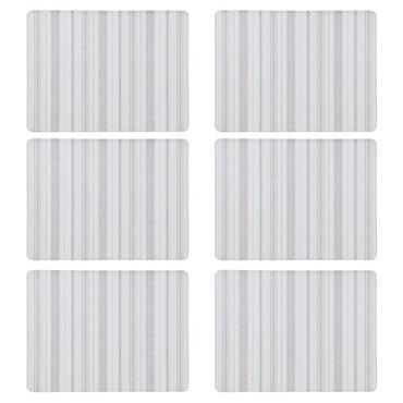 Denby Cream Stripe Placemats 6pk