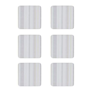 Denby Cream Stripe Costers 6pk