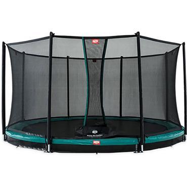 Berg Favorit In Ground 380 Green & Safety Net Trampoline