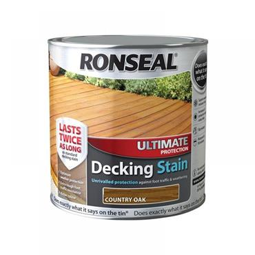 Ronseal Ultimate Decking Stain Country Oak 2.5L